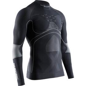 X-Bionic Energy Accumulator 4.0 Camiseta Manga Larga Cuello Tortuga Hombre, charcoal/pearl grey
